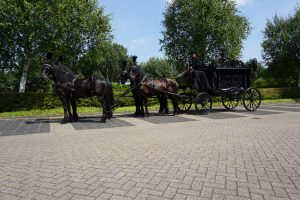 Zwarte Rouwkoets met Friese paarden