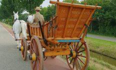 begrafenis met paard en wagen